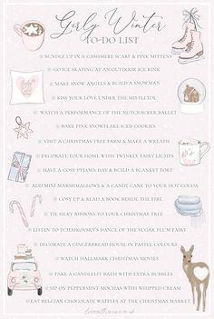 Winter To Do List: Girly Festive Ideas - Love Catherine Angel Aesthetic, Classy Aesthetic, Pink Christmas, Winter Christmas, Too Faced Christmas, Christmas To Do List, Christmas Recipes, Christmas Trees, Xmas