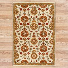 Hooked Spice Suzani Floral Rug, World Market, 6' x 9'. On sale for $330.