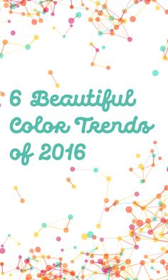 What color trends or schemes have you spotted this year?