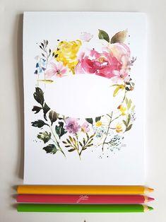 Blok s akvarelem květinkový - s místem na text Šikovný blok na psaní, kreslení - cokoli vás napadne. Blok můžete použít i jako nevšední svatební deník. 100 listů, formátu A5, desky s akvarelem. Papíry mají gramáž 90 gsm, snesou i akvarelem kolorovanou kresbu, pokud to nepřeženete s vodou :). Vzor na deskách jsem poskládala tak, aby vzniklo okénko, do kterého si...