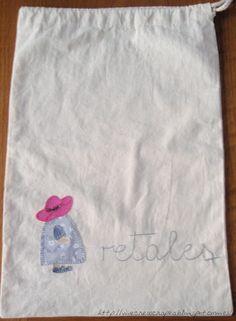 Bolsa para retales y para ganchillo. A bag to keep your works in progress tidy! Crochet or fabric Scraps