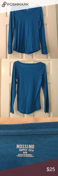 🍂SALE🍂Merona Blue Long Sleeve Shirt Long sleeve shirt, it has been worn a couple times but is still in good condition. It is a size medium Merona Tops