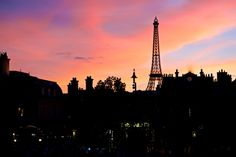 Dusk Sets On The Eiffel Tower at Epcot - http://300stations.com/2013/02/dusk-sets-on-the-eiffel-tower-at-epcot/  Photos from in and around Paris, France.