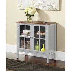 10 Spring Street Hinsdale 2-Door Cabinet, Gray Walmart 129.00