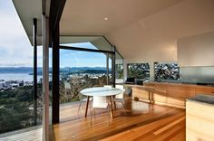 Window walls give this room the best view.