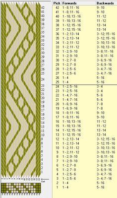 16 tarjetas, 2 colores, repite cada 24 movimientos // sed_333 diseñado en GTT༺❁