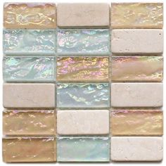 Sea & Sand color tiles Would love this in a beach house kitchen or bath