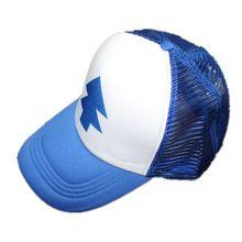 37ea6471504 Boy Girls hats BLUE PINE TREE Trucker snapback Caps Cartoon New Curved Bill  Dipper children Gravity