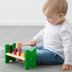 Baby - IKEA Wooden Playset, Wooden Toys, Ikea Toys, Ikea Baby, Infant Activities, Fine Motor Skills, Cool Toys, Baby Toys, Bunt