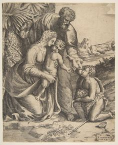 Holy Family with Saint John the Baptist  Published 16th century