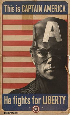 Captain America WWII Propaganda -- So why does he look like Matt Damon and the date 2011 is at the bottom? Not to mention Marvel didn't exist in the 40's, or at least the name didn't. I should not be seeing these things in the History Category. *SIGH*