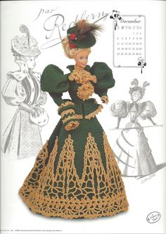 Miss December 1994 The Gibson Girl by KnitKnacksCreations on Etsy