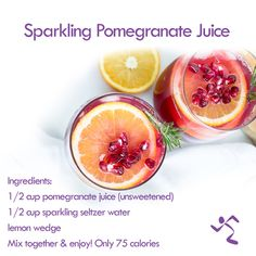 Looking for an alternative to that fruity punch or a summer wine cooler? Give this tasty drink a sip! Healthy Diet Plans, Healthy Tips, Healthy Eating, Healthy Recipes, Lemon Wedge, Wine Wednesday, Pomegranate Juice, Quick Meals, Meal Planning