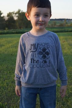 """""""My Moms Are The Coolest"""" Athletic Grey TriBlend Long by LittleFigs for Kids With Lesbian Moms:)"""