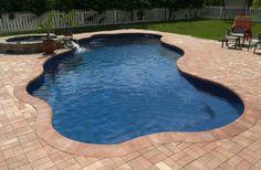 Blue Isle Fiberglass Pool Model by Blue Hawaiian Pools