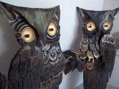 Metal Owl Wall Hangings by ProjectRetro on Etsy, $13.00