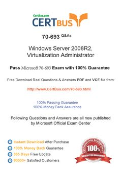 Candidate need to purchase the latest Microsoft 70-693 Dumps with latest Microsoft 70-693 Exam Questions. Here is a suggestion for you: Here you can find the latest Microsoft 70-693 New Questions in their Microsoft 70-693 PDF, Microsoft 70-693 VCE and Microsoft 70-693 braindumps. Their Microsoft 70-693 exam dumps are with the latest Microsoft 70-693 exam question. With Microsoft 70-693 pdf dumps, you will be successful. Highly recommend this Microsoft 70-693 Practice Test.