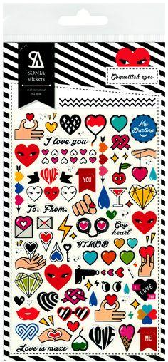 Sonia Coquettish Love Eyes Die-Cut Sticker Sheet