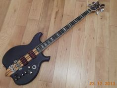 Jaydee Custom 'Infinity' Bass | translucent Black finish, with 4-band EQ. Built by J.D. in 2001.
