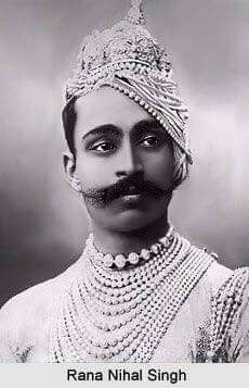 Rana Nihal Singh, Maharaja of Dholpur - Informative & researched article on Rana Nihal Singh, Maharaja of Dholpur from Indianetzone, the largest free encyclopedia on India. Vintage India, Vintage Photographs, Vintage Photos, Indian Prince, Royal Indian, Royal Clothing, India People, Royal Jewels, Vogue