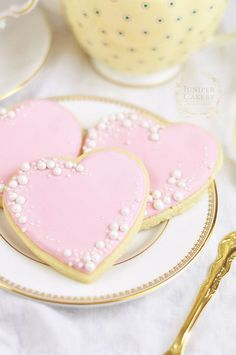 Use sprinkles and sugar pearls to quickly decorating royal iced cookies