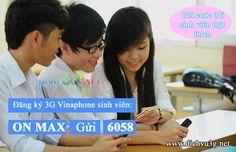 Hướng dẫn đăng ký 3G Vinaphone cho sim sinh viên | Đăng ký dịch vụ 3G Mobifone, Vinaphone, Viettel