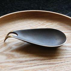 ashtray in patina brass by carl auböck