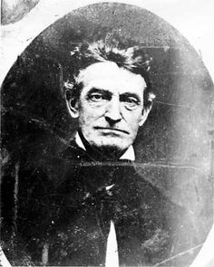 John Brown's anti-slavery convictions and his believe in complete equality of the races led him - in 1859 - to lead an attack on Harper's Ferry which led to Brown being convicted and hanged for murder, conspiracy, and treason.     Photo portrait of John Brown without his beard, taken prior to the raid on Harpers Ferry. Year: 1858. Image Credit: Historic Photo Collection, Harpers Ferry NHP.