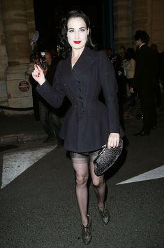 Dita Von Teese Photos: Paris Fashion Week Spring/Summer 2011 - Vogue 90th Anniversary P