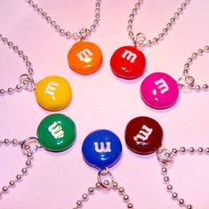 M&M's Candy Necklace - Chocolate Candy Cute Jewelry - Polymer Clay - Little Girl. M&M's Candy Necklace – Chocolate Candy Cute Jewelry – Polymer Clay – Little Girls and Teens Cute Polymer Clay, Cute Clay, Polymer Clay Charms, Bff Gifts, Gifts For Friends, Crea Fimo, M M Candy, Candy Necklaces, Jewelry Necklaces