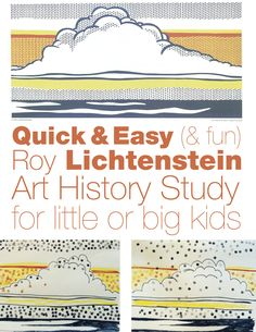 Fun and easy #Lichtenstein #ArtHistory Project for Kids