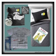 Dr. Seuss Sleep Book Library Due Date Card Shirt and Bedroom Set by shopjustwish on Polyvore