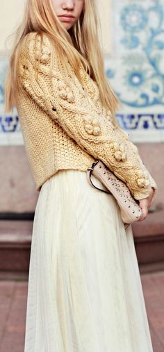 Love this bobble wool sweater