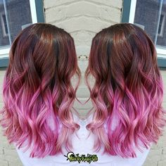 Morning hair inspiration  #pulpriothair @pulpriothair #brazilianbondbuilder #b3demi # #behindthechair #modernsalon #beautylaunchpad #hotonbeauty #americansalon #hairbykaseyoh #fiidnt #pinkombre #pinkhair #ombre #ombrehair #colormelt #hairpainting #hairporn #dyeddollies #dollswithdye #rainbow #rainbowhair