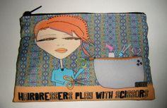 Makeup Bag  Hairdresser bag by michelewithasingleL on Etsy, $14.00