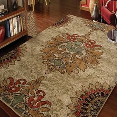 Carolina Weavers Grand Comfort Collection Curtis Beige Area Rug (5'3 x 7'6) | Overstock.com Shopping - The Best Deals on 5x8 - 6x9 Rugs