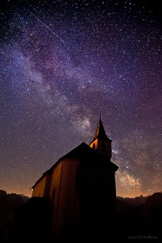 a falling star into milky way....... thk:::::::::::::::::The Dolomites are a mountain range located in north-eastern Italy. It is a part of Southern Limestone Alps and extends from the River Adige in the west to the Piave Valley in the east. Wikipedia