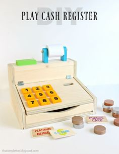"""Happy Friday and one week to go until Christmas! It's Week 11 of the Handbuilt Holiday series and Ana White and I are bringing you a wood kids play cash register. Simply the cutest little thing and functional too! My kids proceeded to ask me """"What is a charge card?"""" Am I that ancient? I... Read more"""