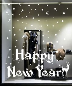 Shop Window Decoration - Happy New Year Vinyl Decals
