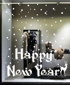 Shop Window Decoration - Happy New Year Vinyl Decals