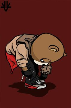 The Numbers Magazine: Kanye West Speaks On New Album. Dope Cartoons, Dope Cartoon Art, Black Cartoon, Kanye West Bear, Kanye West Wallpaper, Chris Brown Art, Graduation Bear, Teddy Bear Cartoon, Music Drawings