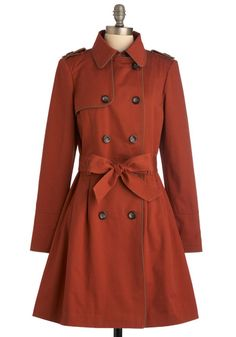 Mod-Styled Trench Coat