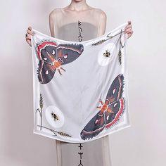 silk moth scarf - Cecropia