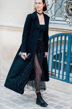 How To Wear Sheer Tulle On The Street   British Vogue