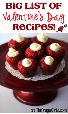 BIG List of Valentine's Day Recipes! ~ from TheFrugalGirls.com ~ you'll love all these tasty treats to make with the kids, share with your sweetie, and spread some love this Valentine's Day! #valentine #recipe #thefrugalgirls