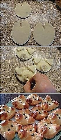 ideas snacks ideas for kids to make Cute Food, Good Food, Yummy Food, Bread Recipes, Cooking Recipes, Snacks Für Party, Food Decoration, Food Humor, Creative Food