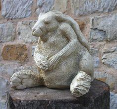 Garden Ornaments : Animal & Bird Garden Ornaments : Hare Garden Sculpture 'Hare Ball'