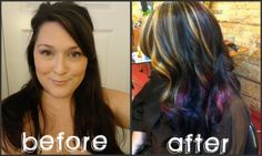 I like the after; only, minus the blond highlights.