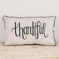 Our beautiful handmade 'Thankful' pillow is a great reminder to always be thankful. This pillow was made in a fair-trade freedom factory in India that provides jobs and hope for impoverished women. Pi