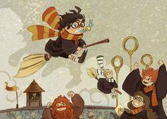 Locok! Tapi kenapa Hermione pake kecemete ya?